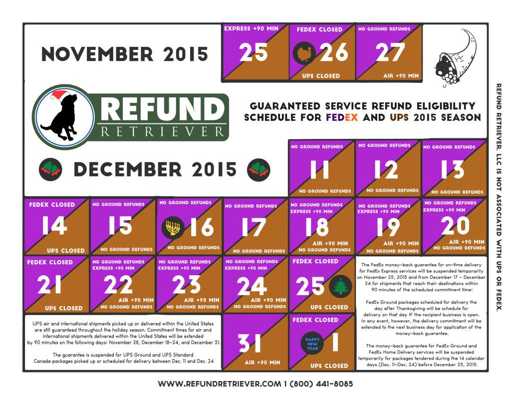 2015 Holiday GSR Calendar Refund Retriever